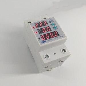 Image 4 - 63A 230V 3IN1 Display Din guida regolabile sopra e sotto tensione di protezione dispositivo di protezione relè con protezione da sovracorrente
