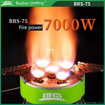 BRS Portable 7000W Power Outdoor kuchenka Camping piknik BBQ kuchenka gazowa z pięcioma palnikami Outdoor Survival sprzęt do gotowania BRS-75 tanie i dobre opinie CN (pochodzenie) Brak w zestawie Bez osłony przed wiatrem Metal SPLIT manual Normalne warunki na zewnątrz