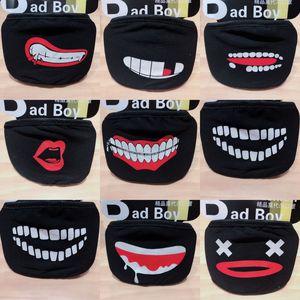 Image 5 - יוניסקס שחור אדון נגד אבק כותנה חמוד דוב אנימה קריקטורה פה מסכת Kpop שיניים פה מופל פנים פה מסכות נשים גברים
