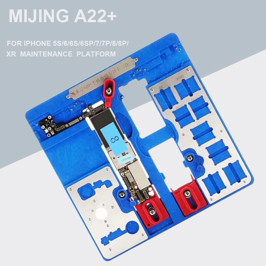 12 IN 1 MIJING A22+ Motherboard Repair Fixture PCB Holder JIG BOARD For IPhone 5S/6/6S/6SP/7/7P/8/8P/ XR  Maintenance  Platform