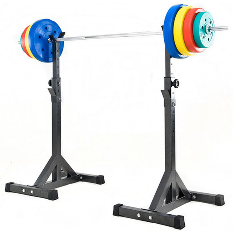 Split Type Weight Bench Squat Rack Barbell Stand-Supporting Weight Training Bench Strength Training Fitness Equipment