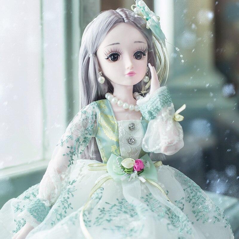 Nouveau 60cm BJD poupée avec robe de princesse vêtements bijoux accessoires 1/3 bjd poupées robe de mariée robe jouets pour filles cadeau