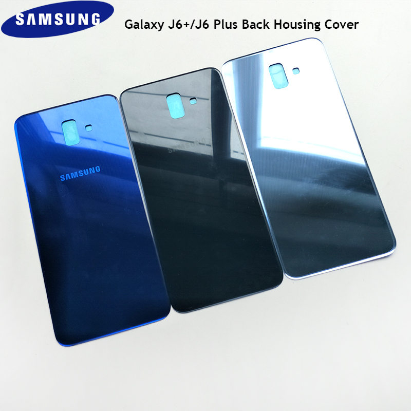 Samsung J6+ J6Plus Original Back Housing Rear Glass Door Replacement Case Dirt-proof Back Battery Cover For Galaxy J6+ J6Plus