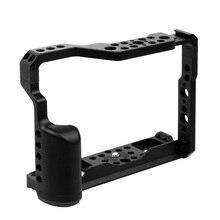 BGNing alüminyum alaşımlı kamera kafesi Video Film yapma çerçevesi Fujifilm XT2 XT3 DSLR kamera sabitleyici Rig koruyucu kılıf kapak