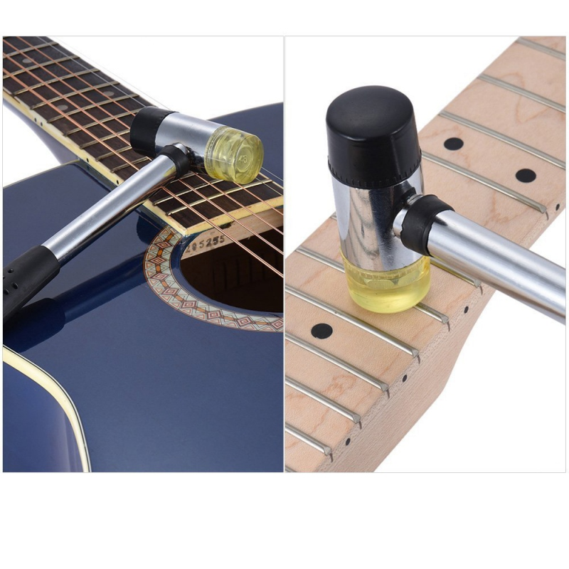 Double Headed Rubber Hammer Mallet Wire Replacement Detachable Replaceable Fret Fretboard Fretwork Installing For Ukulele Guitar