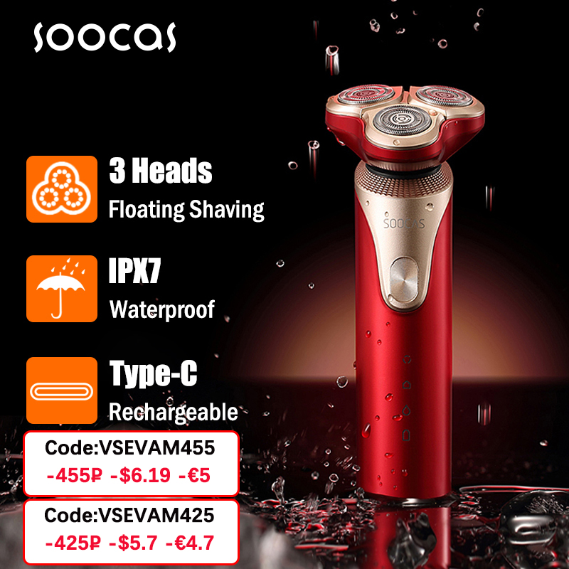 SOOCAS S3 Electric Razor Shaver 3D Trimmer Beard Type C Rechargeable Shaving Machines Trims Electric 3D Floating Shaver Men IPX7|Electric Shavers| - AliExpress