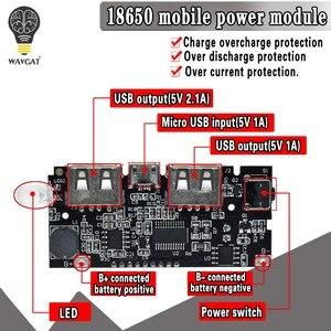 Image 1 - 2 Cổng USB 5V 1A 2.1A Điện Di Động Ngân Hàng 18650 Pin Sạc PCB Mô Đun Nguồn Phụ Kiện Cho Điện Thoại Tự Làm Mới LED Module LCD Ban