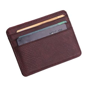 2019 mały portfel na karty kobiety Unisex moda kobiety wzór z lichee etui na karty płatnicze portmonetka posiadacz karty etui na karty kredytowe okładka tanie i dobre opinie ISHOWTIENDA 7 7cm Stałe Coin Bag SQUARE 10 2cm OPEN 1PC Card Holder