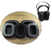 Almofadas macias das almofadas de orelha dos earpads da espuma da memória da pele de carneiro para a pesquisa acústica AR H1 fones de ouvido