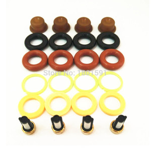 Image 2 - 4sets  Fuel injector repair kit /injector parts for bosch universal including micro filter oring plastic gasket pintle cap