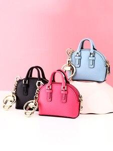 Image 2 - をmilesiファッションバッグペンダント女性キーホルダー女性のハンドバッグアクセサリーかわいいミニチュアハンドバッグためスマート人形mp373