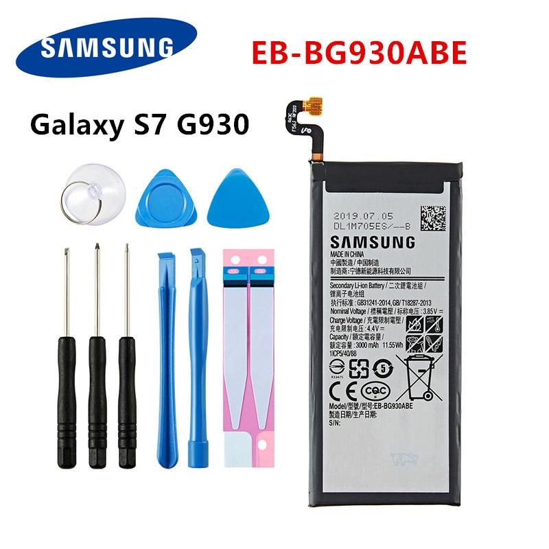 SAMSUNG Orginal EB-BG930ABE 3000mAh Battery For Samsung Galaxy S7 SM-G930F G930FD G930W G930 G930V/T G930FD G9300 +Tools