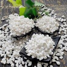 100g paralelepípedos decorativos pedra mármores para suculenta bonsai tanque de peixes vaso planta pequena pedra casa jardim seixos decoração branco