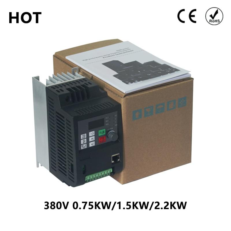 VFD 380V 4kw AC 380V 1.5kw/2.2kw/4KW/5.5kw/7.5KW Частотный привод 3 фазный контроллер скорости инвертор двигателя VFD инвертор