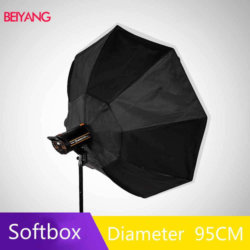 BEIYANG 95cm 37.5in portátil paraguas Octagon Softbox Flash Speedlight Speedlite reflector del Softbox con bolsa de transporte