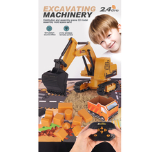 A016 Excavator Dump Truck Model Toy Vehicle RC Excavator Baby Classic Rechargeable RC Engineering Car Mini RC Truck For Boy Gift a016 rc excavator toy rc engineering car mini rc truck rechargeable simulated excavator dump truck model toy vehicles for kids