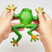 Simulation Frog Toy Model Decoration Soft Plastic Creative Tricky Vent Frog Fun Toy For Children