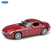 WELLY 1:24  Mercedes-Benz SLS AMG  sports car machine Simulation Alloy Car Model Collection toy tools