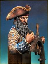 Figura de guerrero antiguo sin montar, busto de barba (sin BASE), Kit de resina en miniatura sin pintar, 1/10