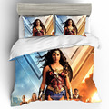 Комплект постельного белья queen King size Wonder Woman хлопковый комплект постельного белья с принтом s пододеяльник простыни домашний текстиль навол...