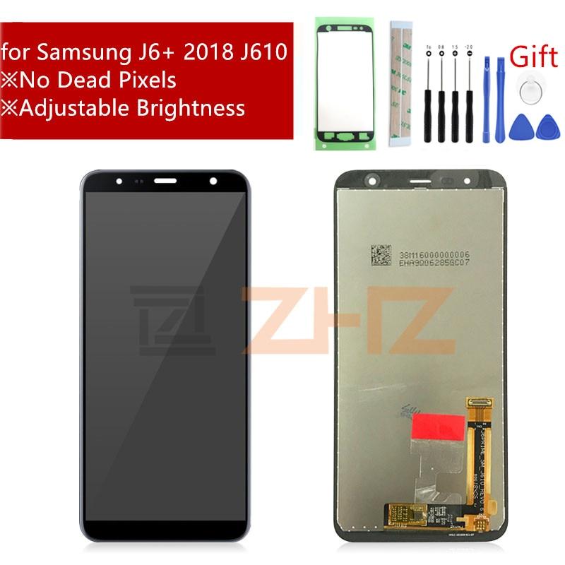 Para Samsung J610 pantalla LCD J6 + J610 J610F J610FN MONTAJE DE digitalizador de pantalla táctil J6 plus piezas de reparación de reemplazo de pantalla|Pantallas LCD para teléfonos móviles|   - AliExpress