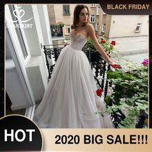 רומנטי טול אונליין חתונה שמלת Swanskirt 2 ב 1 נתיק קריסטל בית משפט רכבת כלה שמלת נסיכת Vestido דה Noiva RA07