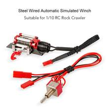 GloryStar Metal Steel Wired Automatic Simulated Winch Toy for 1/10 Traxxas HSP Redcat HPI TAMIYA Axial SCX10 RC4WD D90 RC Car(China)