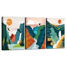 Настенный художественный постер с изображением гор сирамы