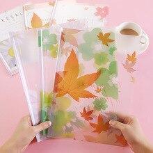 A4 Transparent PP Filling Bag Report Cover Cute Book Cover Document Holder File Folder