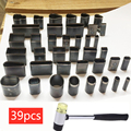 Artesanato de couro DIY 39 Forma Estilo Buraco Oco Soco Cortador + martelo ferramentas manuais definir para telefones Camara