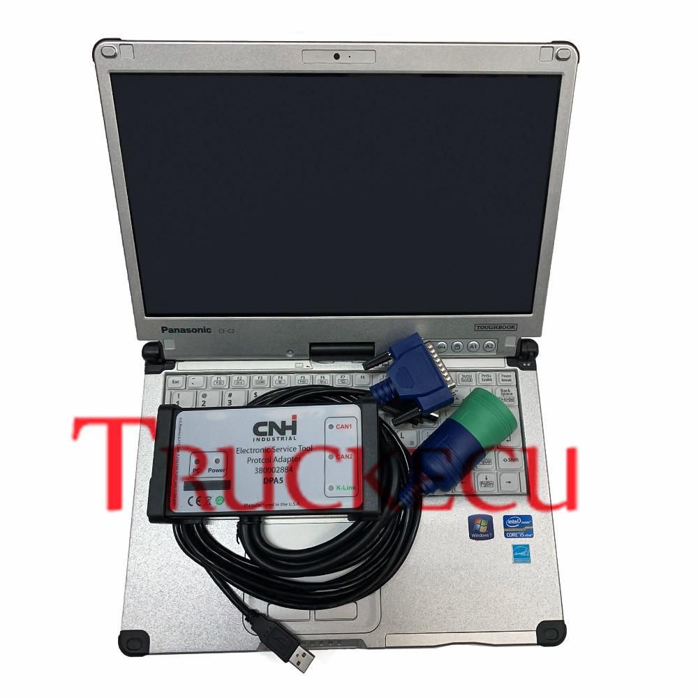 Диагностический сканер для New Holland чехол IH Steyr инструмент для CNH Est диагностический комплект электронный инструмент CNH EST DPA5 + C2 ноутбук
