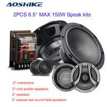 AOSHIKE-Altavoces coaxiales para Reparación de coches, Kit de altavoces con tweeter, combinación de frecuencia completa, Audio, Subwoofer, 180W, 6,5 pulgadas, 2 uds.