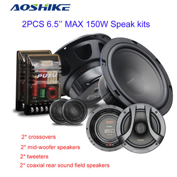 aoshike-2pcs-6-5-inch-180w-full-frequency-combination-coaxial-speakers-kit-with-tweeters-audio-speak-subwoofer-for-car-refit-kit
