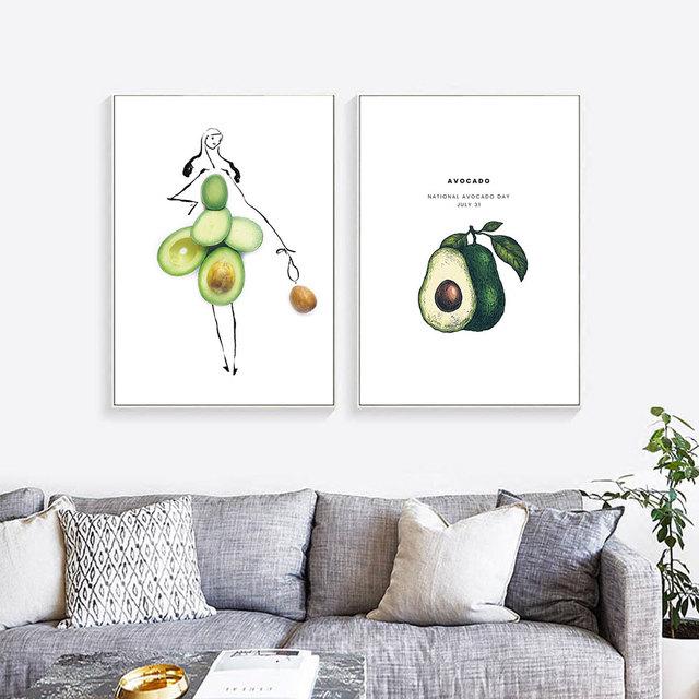 Avocado Canvas Poster
