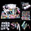 Acrílico em pó glitter arte do prego decoração kit de ferramentas da arte do prego conjunto combinação diy gel conjunto arte do prego dropshipping smj