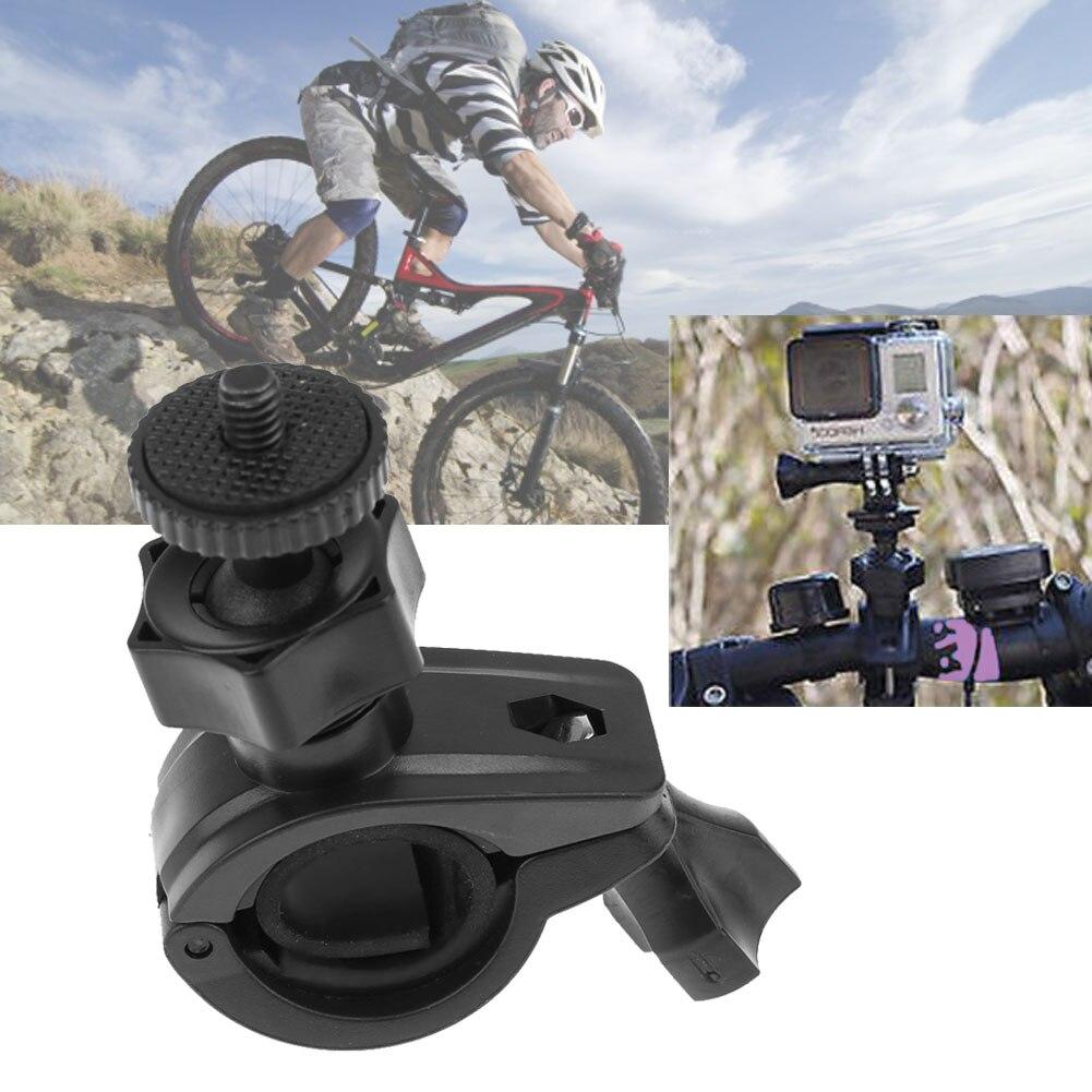 Bike Handlebar DV Mount Cycling Digital Camera Clamp Bracket Holder 180° Tripod