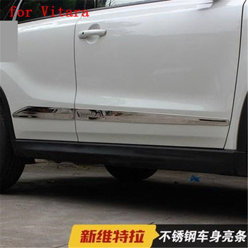 High quality stainless steel body trim strip door anti-rub fit for Suzuki Vitara 2015-2017 Car styling fast