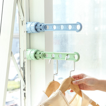 New Window Frame Hanger Clothesline Pole Clothes Hanger Rental Housing Dormitory Travel Artifact Drying Hanger Rod Wholesale image
