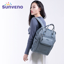 SUNVENO 2019 New Diaper Bag Backpack Large Capacity Waterproof Nappy Bag Kits Mummy Maternity Travel Backpack Nursing bag sunveno оранжевый