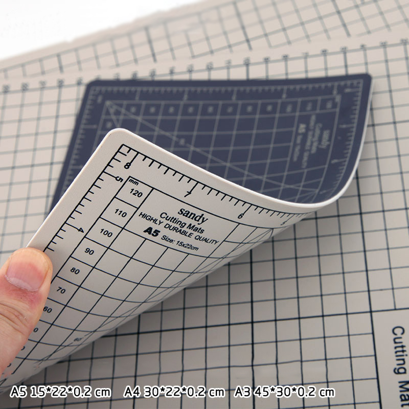 A3 Two-color Cutting Board Diy Manual Rubber Stamp Carving Pad Cutting Board Cutting Grid Pvc Grid Line Self-healing Cutting Pad