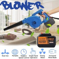 900W Portable Computer cleaner Electric Air Blower 168V/198V/218V Cordless Chargeable Dual Function Blower