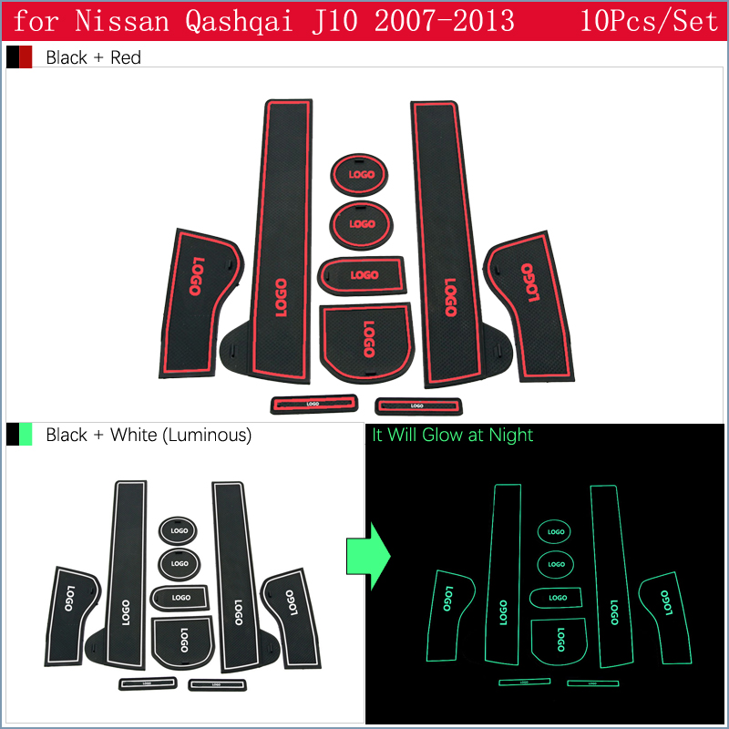 cheapest For Nissan Qashqai J10 2007 20018 2009 2010 2011 2012 2013 Anti-Slip Gate Slot Pad Rubber Cup Mat Accessories Car Stickers
