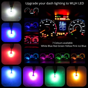 WLJH Extremely Bright Instrument Cluster Panel Gauge Dash Lights Lamp Bulb Full Conversion Kits for Ford Ranger 1983-2011