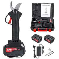 88V 18000mAh 30mm Cordless Pruner Electric Rechargeable Pruning Shear Secateur Branch Cutter Garden Fruit Pruning Tool