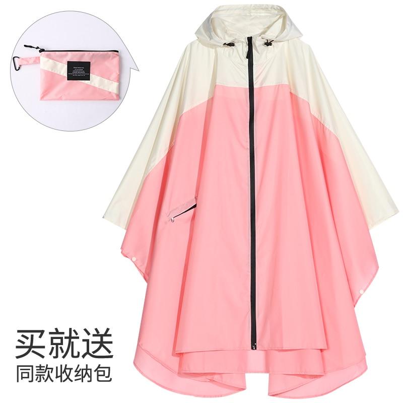 Women's Fashion Raincoat Waterproof Rain Poncho Cloak with Hood for Hiking Climbing Light and Touring windbreaker