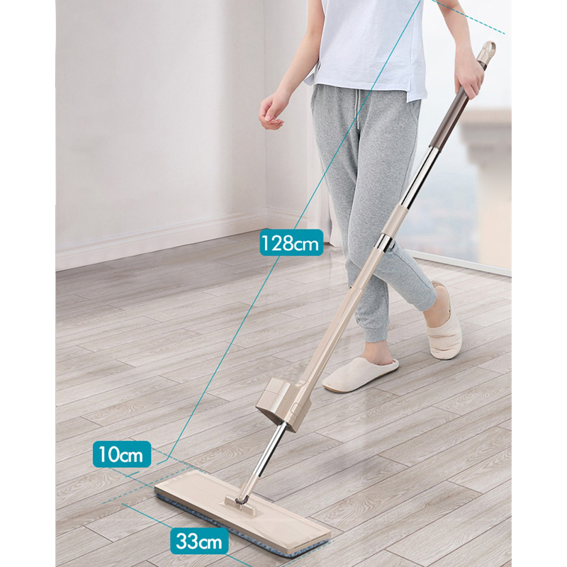 Self-Wringing and 360 Degrees Rotating Spin Mop for Household Wooden Floor Cleaning 4