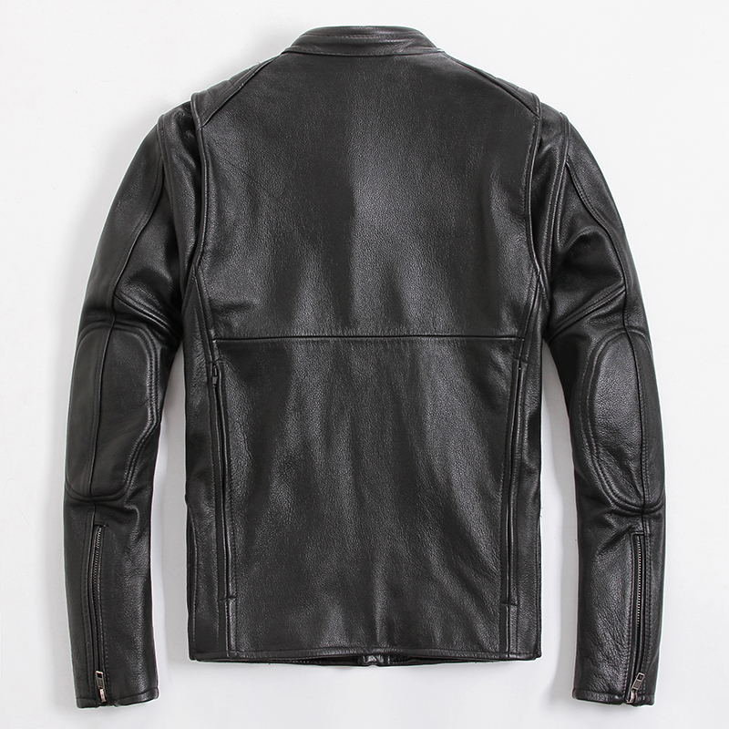Geniune Leather Jacket Men Natural Cow Leather Jackets Spring Autumn Motocycle Outwear Jaquetas Masculina 2020 MF417
