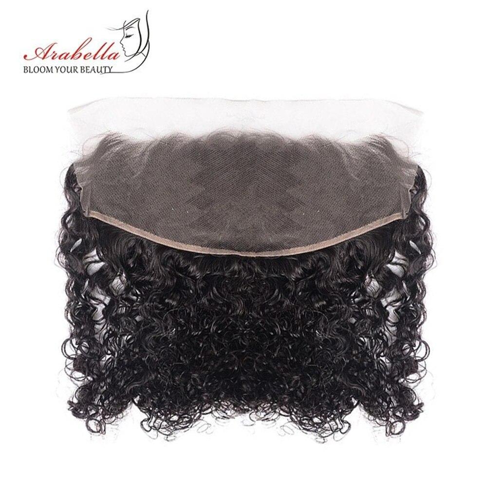 Extensión de cabello humano Remy con doble encaje rizado, 13x4, Arabella, nudos prearrancados, cierre Frontal de malla, rizado