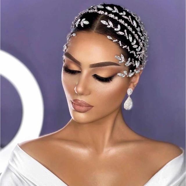 Asnora unique crystal headband wed