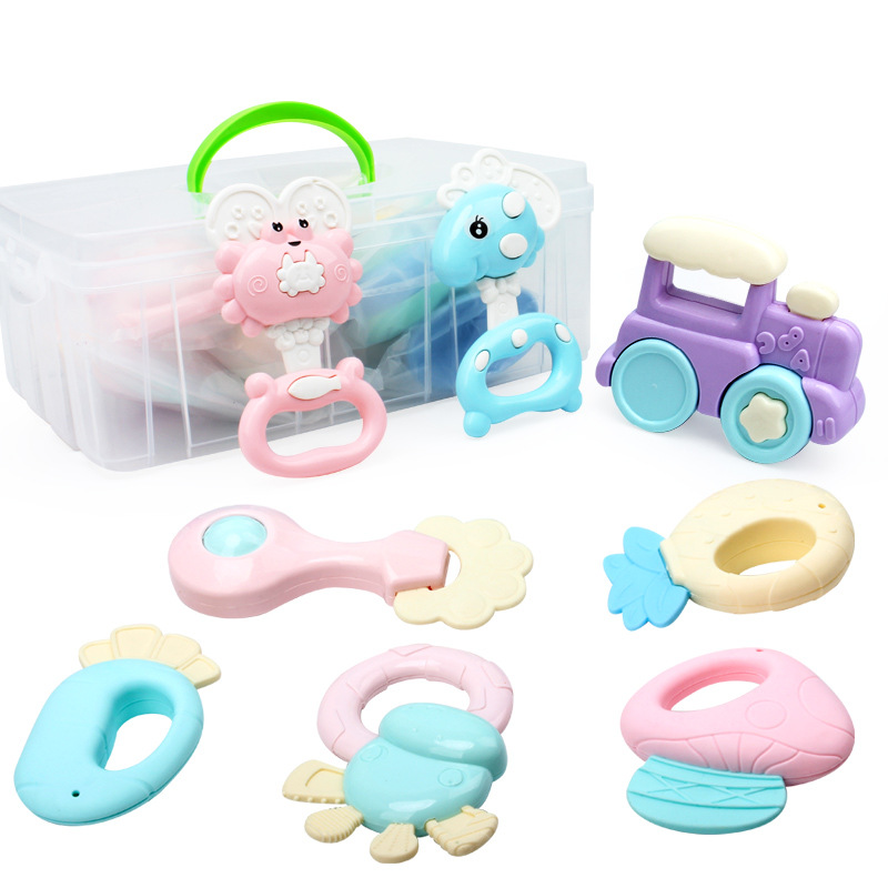 Newborn Baby Toys 0-1-Year-Old Rattle Set Combination Years Old Baby Educational Early Childhood CHILDREN'S Hand Rattle Teether